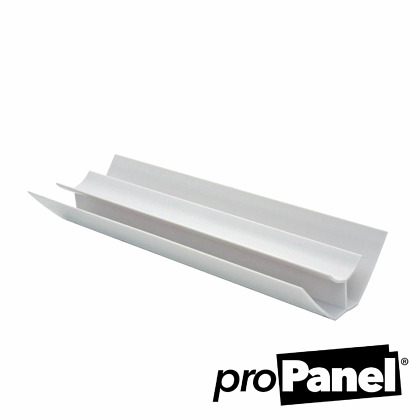 White 8mm internal corner PVC trim