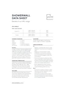 Showerwall HPL datasheet