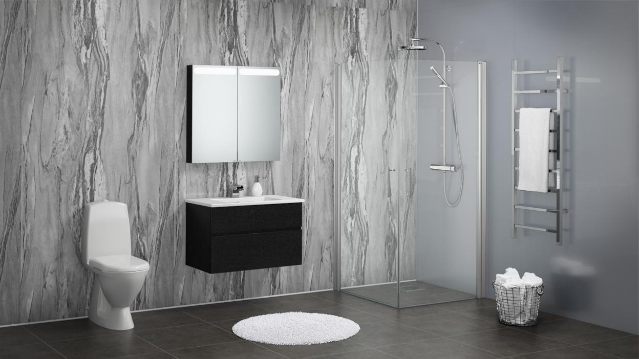 Grey Volterra Gloss Texture Sw53 Sw54 Showerwall Free