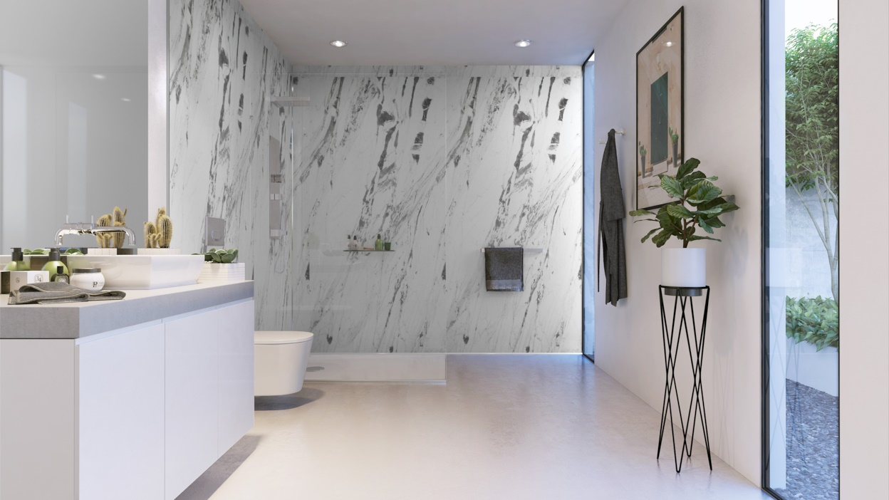 Lightning Marble in a bathroom example 5