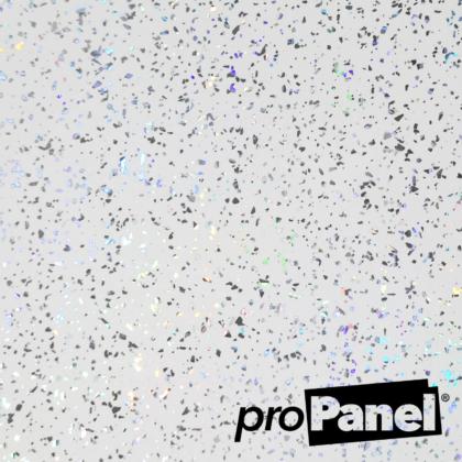 PROPANEL® 5mm Platinum White Sparkle close up