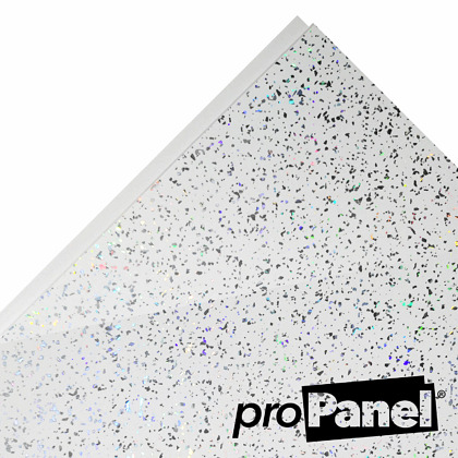 PROPANEL® 5mm Platinum White Sparkle close up