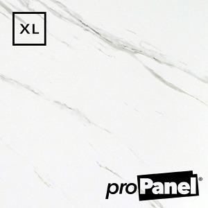 PROPANEL® XL 1m Wide Blanco Carrara Matte White shower wall panel close up
