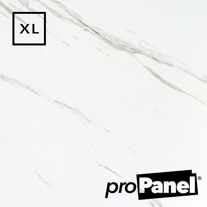PROPANEL® XL 1m Wide Blanco Carrara Matte White shower wall panel close up