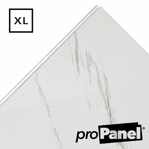 PROPANEL® XL 1m Wide Blanco Carrara Matte White shower wall panel