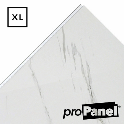PROPANEL® XL 1m Wide Blanco Carrara Matte White shower wall panel