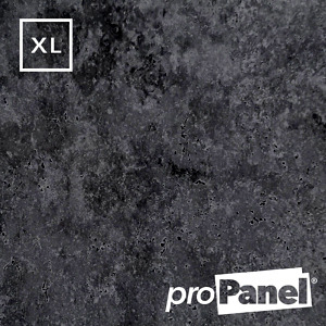 PROPANEL® XL 1m Wide Urban Concrete Matte Grey shower wall panel close up