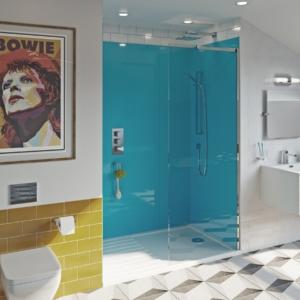 Azure Acrylic Showerwall in a shower