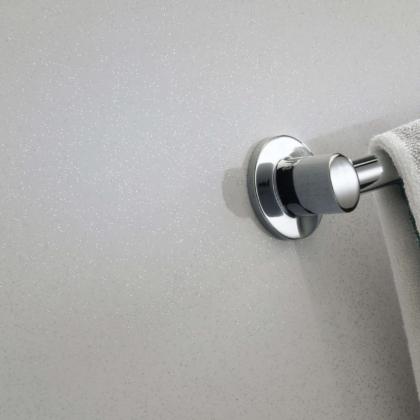 Bianco Stardust Showerwall in a bathroom