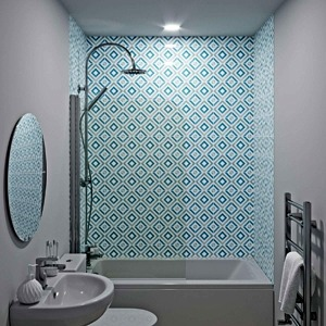 Diamond Acrylic Showerwall in a bathroom