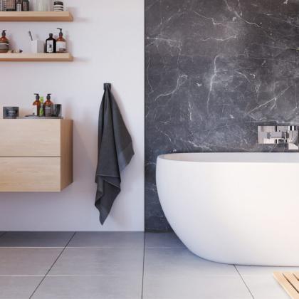 Grigio Marble in a bathroom