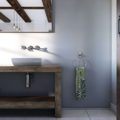 Linea White Showerwall in a bathroom