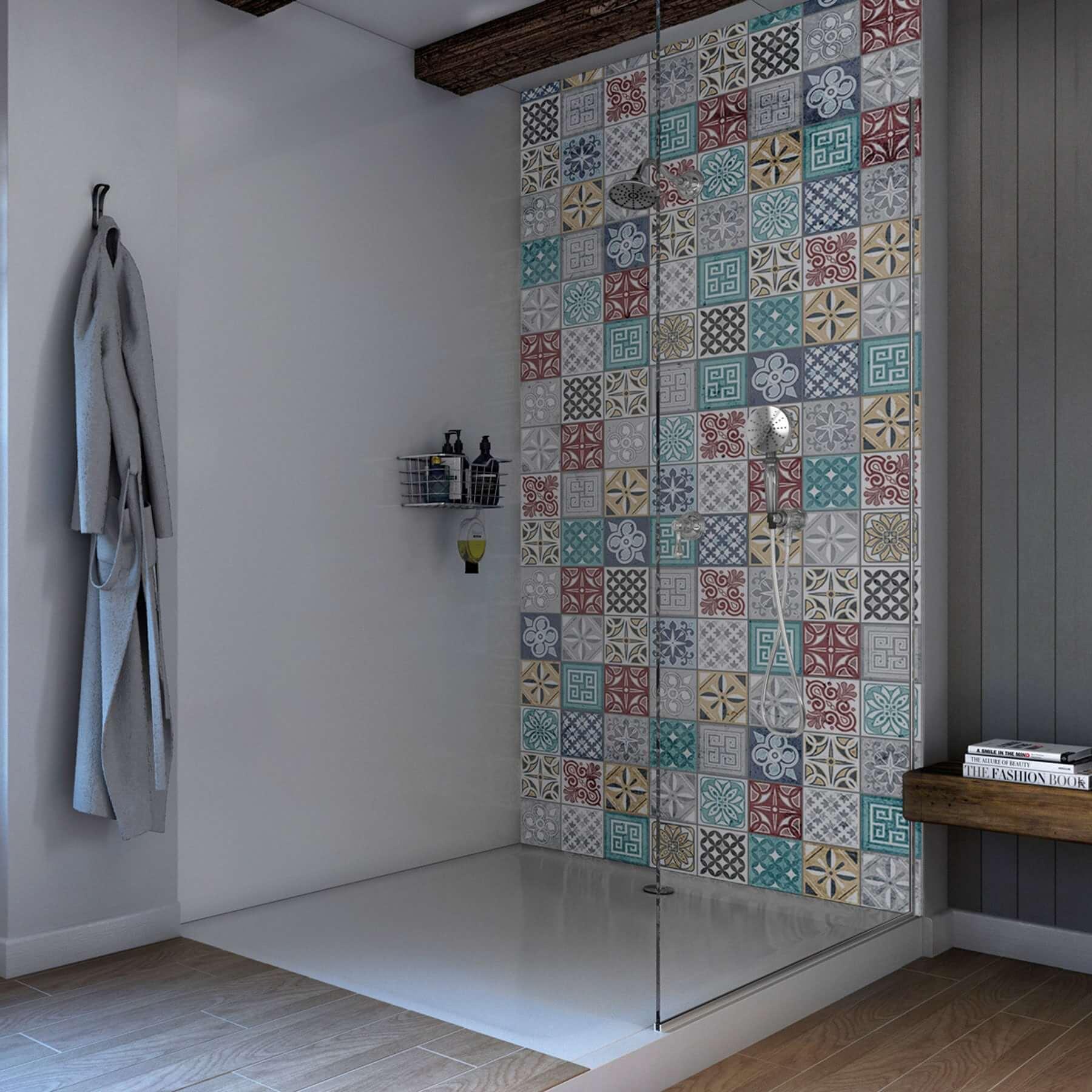 Moroccan Acrylic Showerwall Sca05 Waterproof Panels Free