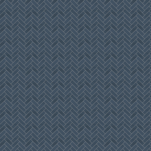 Close up sample of Navy Herringbone Acrylic Showerwall in a bathroom