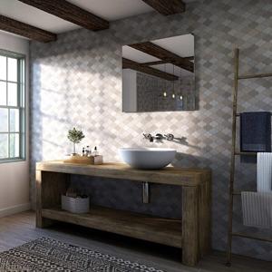 Paseo Acrylic Showerwall in a bathroom