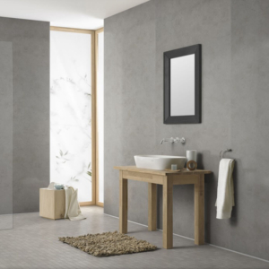 Pearl Grey Showerwall in a bathroom