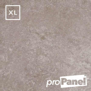 PROPANEL® XL 1m Wide Beige Concrete matte shower wall panel close up