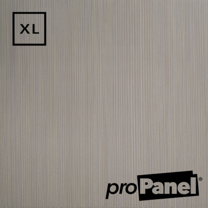 PROPANEL® XL 1m Wide Grey Linen shower wall panel close up