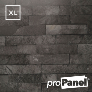 PROPANEL® XL 1m Slate Grey Brick matte shower wall panel close up