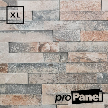 PROPANEL® XL 1m Wide Stone Brick matte shower wall panel close up