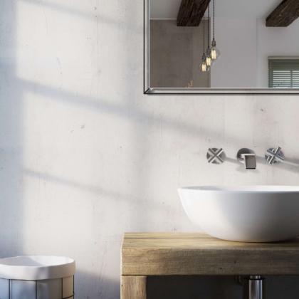 Urban Concrete Showerwall in a bathroom
