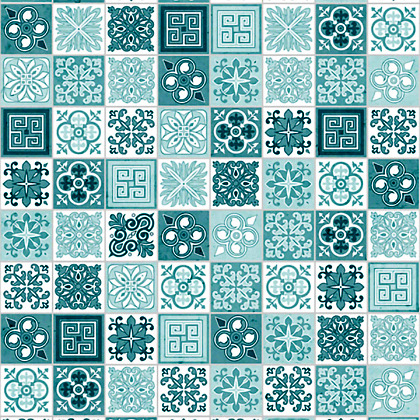 Close up sample of Victorian Turquoise Acrylic Showerwall