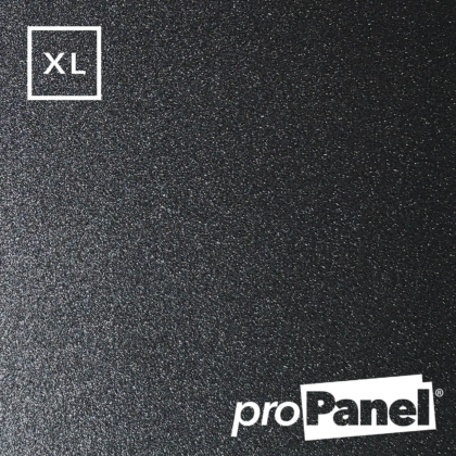 PROPANEL® XL 1m Wide Gunmetal Dark Grey gloss shower wall panel close up