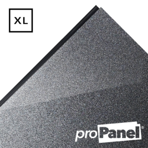 PROPANEL® XL 1m Wide Gunmetal Dark Grey gloss shower wall panel