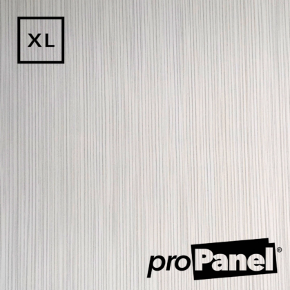 PROPANEL® XL 1m Wide White Linen gloss shower wall panel close up