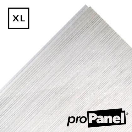 PROPANEL® XL 1m Wide White Linen gloss shower wall panel