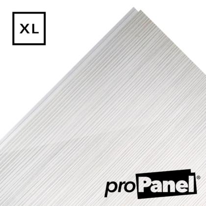 PROPANEL® XL 1m Wide White Linen gloss shower wall panel