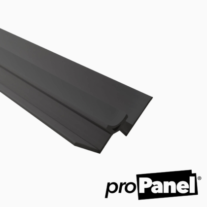 Black 10mm internal corner PVC trim