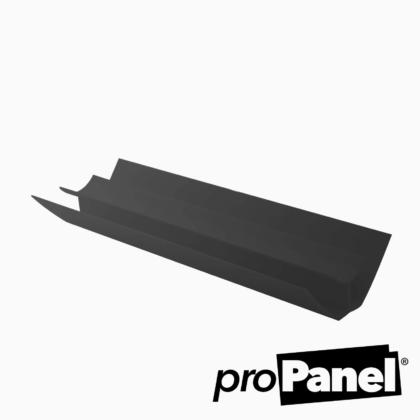 Black 5mm internal corner PVC trim