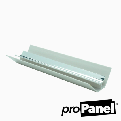 Silver chrome effect 5mm internal corner PVC trim