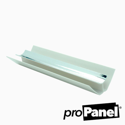 Silver chrome effect 8mm internal corner PVC trim
