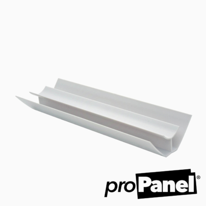 White 5mm internal corner PVC trim