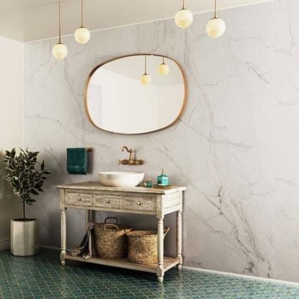 Ocean Marble Showerwall used in a bathroom.